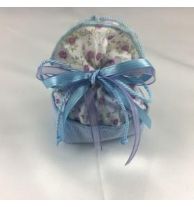sacchettino con fiorellini lilla 70 pezzi